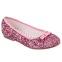 Buy John Lewis Glitter Ballet Pumps, Pink Online at johnlewis.com