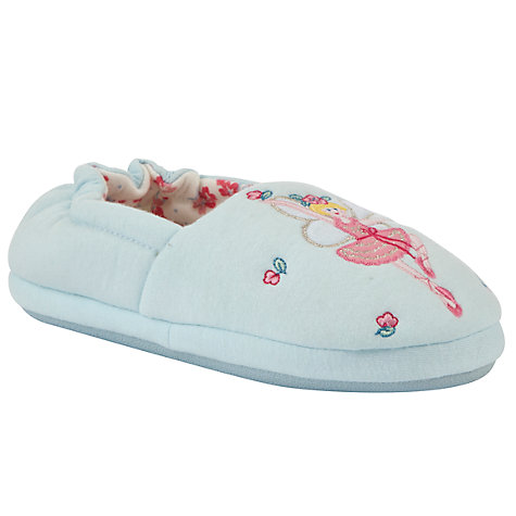Buy John Lewis Girl Fairy Closed Back Slippers, Blue Online at johnlewis.com