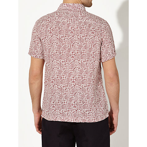 Buy John Lewis Stamp Print Short Sleeve Shirt Online at johnlewis.com