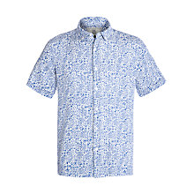Buy John Lewis Stamp Print Linen Shirt Online at johnlewis.com