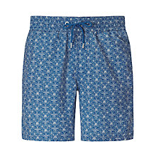 Buy John Lewis Cummersdale Print Swim Shorts, Navy Online at johnlewis.com
