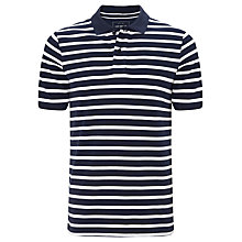 Buy John Lewis Breton Stripe Organic Short Sleeve Polo Top Online at johnlewis.com