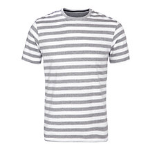 Buy John Lewis Organic Cotton Striped T-Shirt, Grey Marl Online at johnlewis.com
