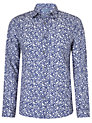 Buy John Lewis Floral Ditsy Archive Print Shirt, Cobalt Blue, S Online at johnlewis.com