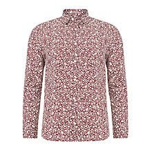 Buy John Lewis Floral Ditsy Archive Print Shirt, Red Online at johnlewis.com