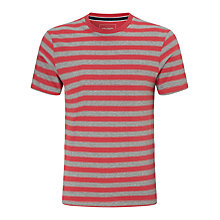 Buy John Lewis Organic Cotton Striped T-Shirt, Washed Red Online at johnlewis.com