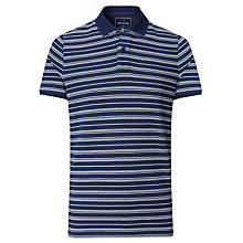 Buy John Lewis Short Sleeve Striped Polo Shirt, Indigo Online at johnlewis.com
