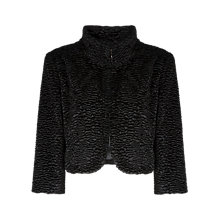 Buy Alexon Faux Fur Jacket, Black Online at johnlewis.com