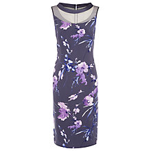Buy Jacques Vert Floral Print Shift Dress, Grey Online at johnlewis.com