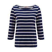 Buy Jigsaw Breton Stripe Top, Grey/Blue Online at johnlewis.com