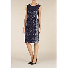 Buy Alexon Bonded Lace Dress, Navy Online at johnlewis.com