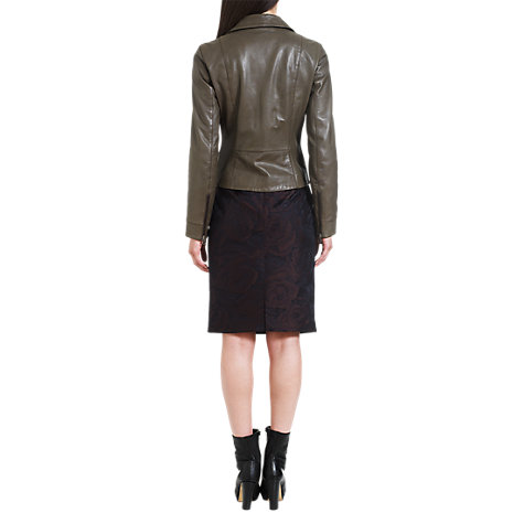 Buy Jigsaw Royal Rose Skirt, Brown Online at johnlewis.com