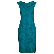 Buy Alexon Embroidered Shantung Dress, Green Online at johnlewis.com
