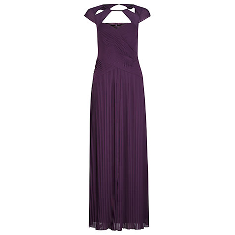 Buy Alexon Plisse Cutout Dress, Purple Online at johnlewis.com