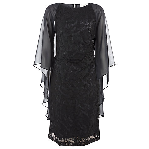 Buy Kaliko Lace Angel Sleeve Dress, Black Online at johnlewis.com