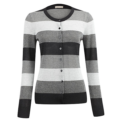 Buy Planet Lurex Colour Block Cardigan, Grey Online at johnlewis.com