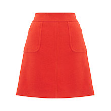 Buy Jigsaw Soft Tweed Mini Skirt, Orange Online at johnlewis.com
