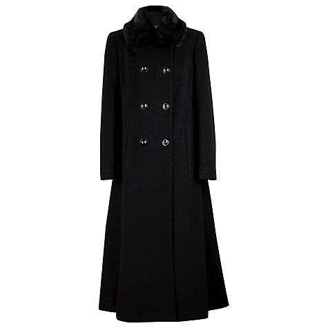 Buy Windsmoor Long Fit and Flare Coat, Black Online at johnlewis.com