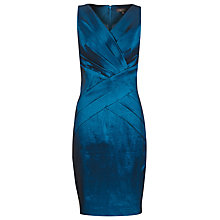Buy Alexon Taffeta Panel Dress, Blue Online at johnlewis.com
