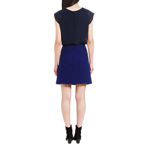 Buy Jigsaw Soft Tweed Mini Skirt, Blue Online at johnlewis.com