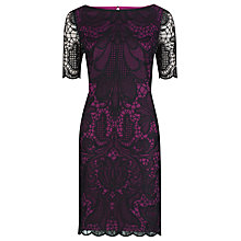Buy Alexon Lace Tunic Dress, Black Online at johnlewis.com