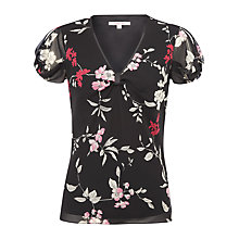 Buy Jacques Vert Oriental Print Blouse, Black Online at johnlewis.com