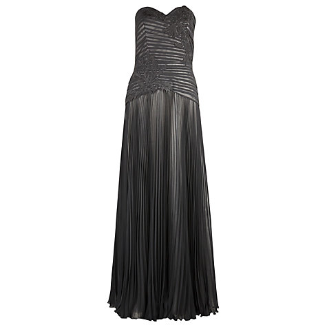 Buy Alexon Appliqué Bustier Maxi Dress, Black Online at johnlewis.com