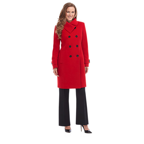 Buy Precis Petite Double Breasted Wool Coat, Red Online at johnlewis.com