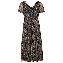 Buy Jacques Vert Lace & Ribbon Dress, Black/Gold Online at johnlewis.com