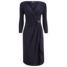 Buy Planet Ruffle Brooch Dress, Navy Online at johnlewis.com