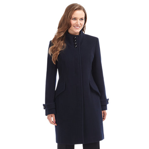 Buy Precis Petite Wool Coat, Blue Online at johnlewis.com