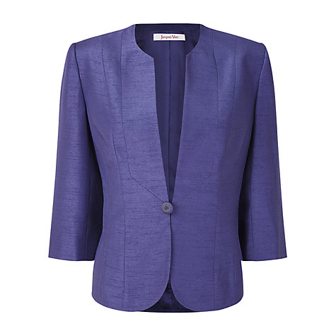 Buy Jacques Vert Viola Shimmer Jacket, Purple Online at johnlewis.com