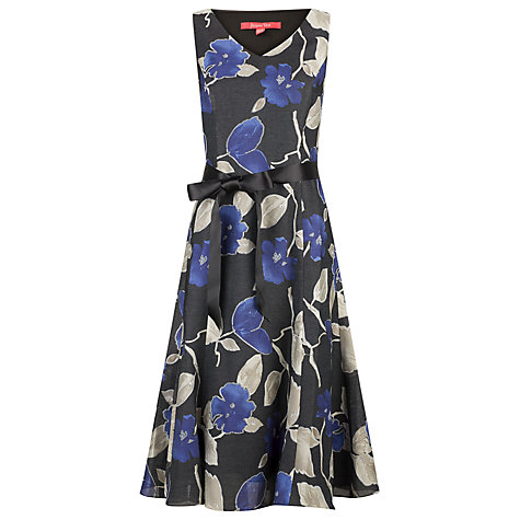 Buy Jacques Vert Floral Print Dress, Black Online at johnlewis.com