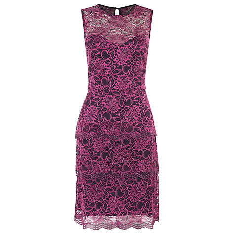 Buy Kaliko Lace Tiered Dress, Purple Online at johnlewis.com