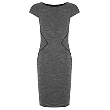 Buy Oasis Tweed Pipe Dress, Multi Grey Online at johnlewis.com