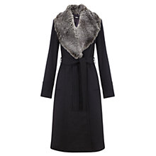 Buy Jigsaw Princess Melton Collar Coat, Dark Grey Online at johnlewis.com