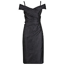 Buy Alexon Jacquard Bardot Dress, Black Online at johnlewis.com
