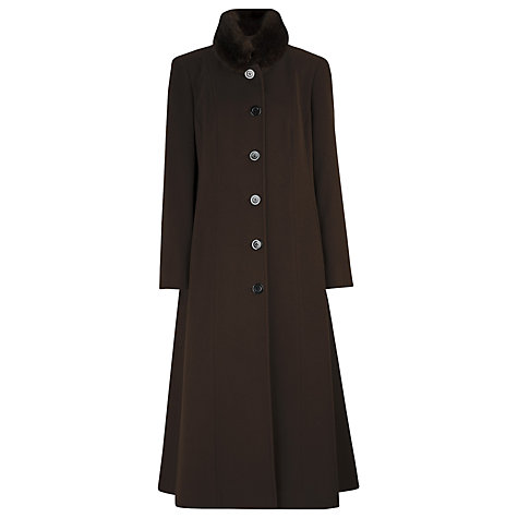 Buy Windsmoor Long Coat, Brown Online at johnlewis.com