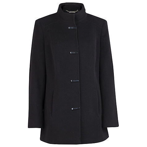 Buy Windsmoor Short Funnel Neck Coat, Black Online at johnlewis.com