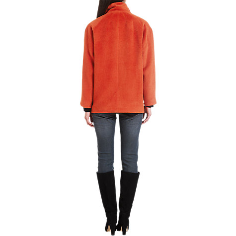 Buy Jigsaw Llama Coat, Orange Online at johnlewis.com