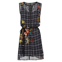 Buy Mango Combi Print Chiffon Dress, Black Online at johnlewis.com