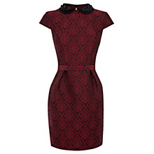Buy Warehouse Beaded Collar Dress, Multi Online at johnlewis.com