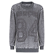 Buy Mango Acid Sweatshirt, Light Pastel Grey Online at johnlewis.com