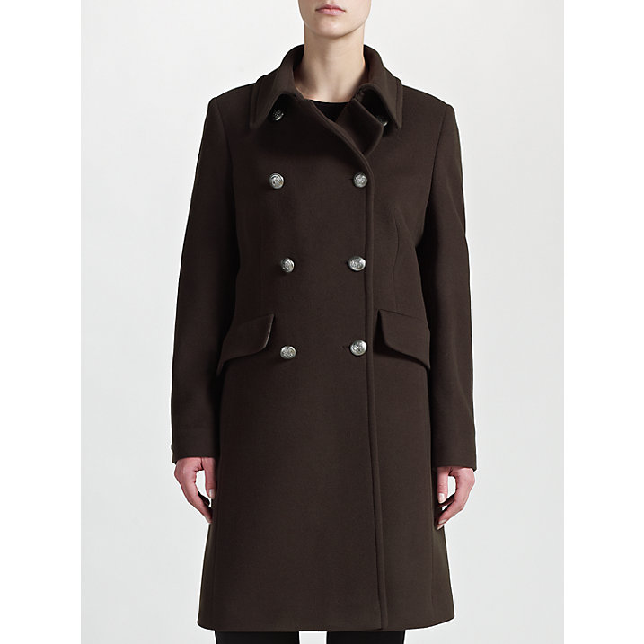 Buy Four Seasons Military Coat, Loden, S Online at johnlewis.com