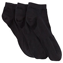 Buy John Lewis Cotton Trainer Socks, Pack of 3 Online at johnlewis.com