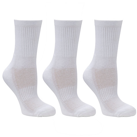 Buy John Lewis Plain Crew Socks, Pack Of 3 Online at johnlewis.com