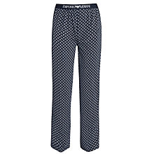 Buy Emporio Armani Pattern Lounge Pants, Navy Online at johnlewis.com