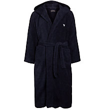 Buy Emporio Armani Towelling Dressing Robe, Navy Online at johnlewis.com