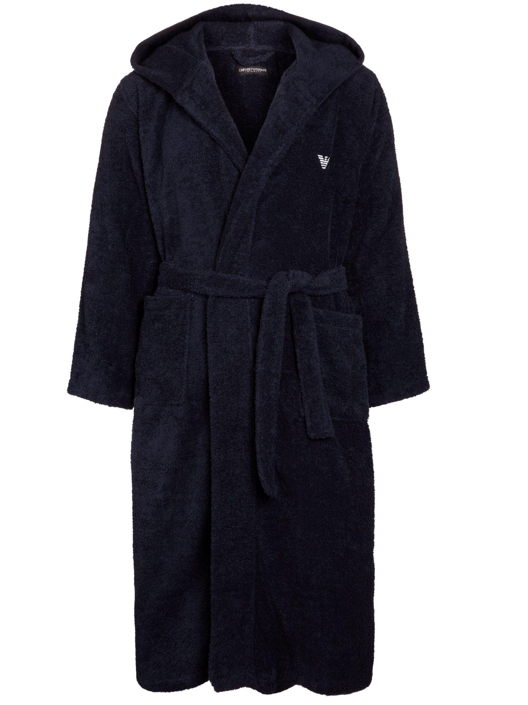 Emporio Armani Towelling Dressing Robe, Navy