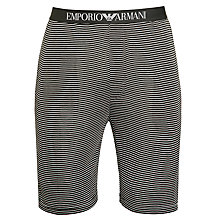 Buy Emporio Armani Striped Jersey Shorts, Grey Online at johnlewis.com